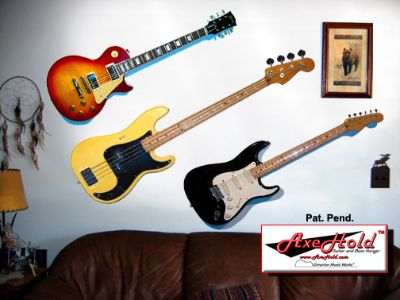 How To Hang Guitar On Wall better wall hangers - now with straplocks! | my les paul forum